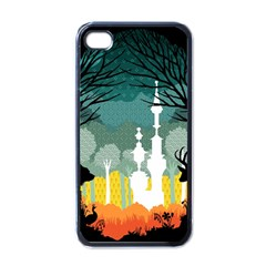 A Discovery In The Forest Apple Iphone 4 Case (black)