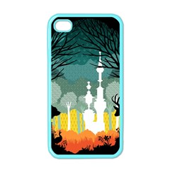 A Discovery In The Forest Apple Iphone 4 Case (color)