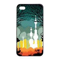 A Discovery In The Forest Apple Iphone 4/4s Seamless Case (black)
