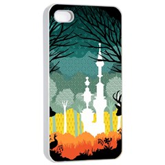 A Discovery in the Forest Apple iPhone 4/4s Seamless Case (White)