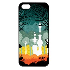 A Discovery In The Forest Apple Iphone 5 Seamless Case (black)