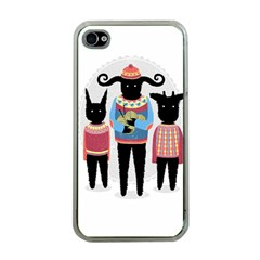 Nightmare Knitting Party Apple iPhone 4 Case (Clear)