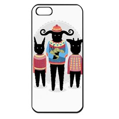 Nightmare Knitting Party Apple iPhone 5 Seamless Case (Black)