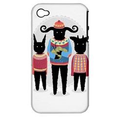 Nightmare Knitting Party Apple Iphone 4/4s Hardshell Case (pc+silicone)