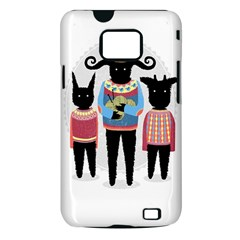 Nightmare Knitting Party Samsung Galaxy S II i9100 Hardshell Case (PC+Silicone)