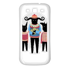 Nightmare Knitting Party Samsung Galaxy S3 Back Case (White)
