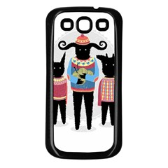Nightmare Knitting Party Samsung Galaxy S3 Back Case (black)