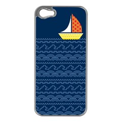 Sail the seven seas Apple iPhone 5 Case (Silver)