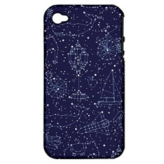 Constellations Apple Iphone 4/4s Hardshell Case (pc+silicone)