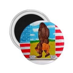 Big Foot,bison U,s,a, Flag 2 25  Button Magnet