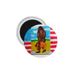 big foot,bison u,s,a, flag 1.75  Button Magnet
