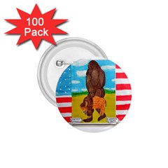 big foot,bison u,s,a, flag 1.75  Button (100 pack)