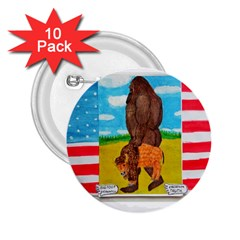 big foot,bison u,s,a, flag 2.25  Button (10 pack)