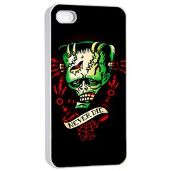 Never Die Apple iPhone 4/4s Seamless Case (White)