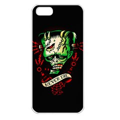 Never Die Apple iPhone 5 Seamless Case (White)