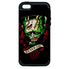 Never Die Apple Iphone 5 Hardshell Case (pc+silicone)