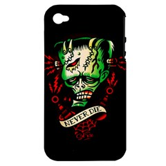 Never Die Apple Iphone 4/4s Hardshell Case (pc+silicone)