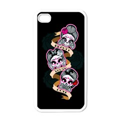 Skull Beauties Apple iPhone 4 Case (White)