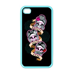 Skull Beauties Apple iPhone 4 Case (Color)