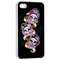Skull Beauties Apple Iphone 4/4s Seamless Case (white)