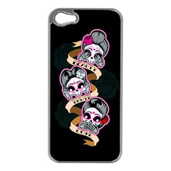 Skull Beauties Apple Iphone 5 Case (silver)