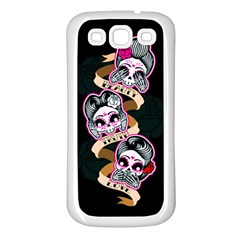Skull Beauties Samsung Galaxy S3 Back Case (White)
