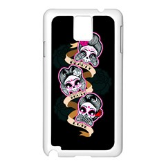 Skull Beauties Samsung Galaxy Note 3 N9005 Case (White)