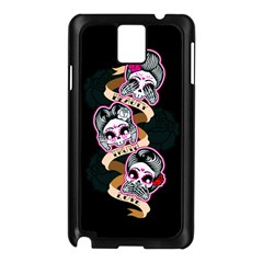 Skull Beauties Samsung Galaxy Note 3 N9005 Case (black)