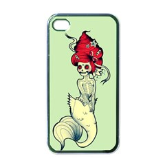 Once A Mermaid Apple Iphone 4 Case (black)
