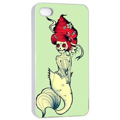 Once a Mermaid Apple iPhone 4/4s Seamless Case (White)