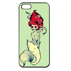 Once A Mermaid Apple Iphone 5 Seamless Case (black)