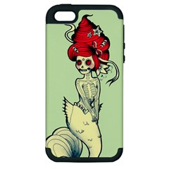 Once A Mermaid Apple Iphone 5 Hardshell Case (pc+silicone)
