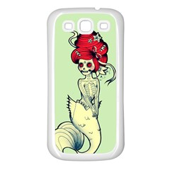 Once a Mermaid Samsung Galaxy S3 Back Case (White)