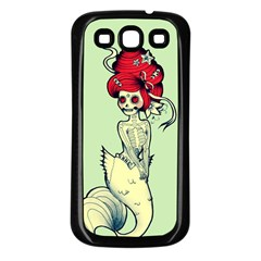 Once a Mermaid Samsung Galaxy S3 Back Case (Black)