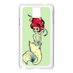 Once a Mermaid Samsung Galaxy Note 3 N9005 Case (White)