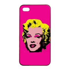 Warhol Monroe Apple iPhone 4/4s Seamless Case (Black)