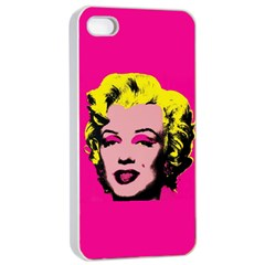 Warhol Monroe Apple iPhone 4/4s Seamless Case (White)