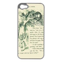 Alice in Bookland Apple iPhone 5 Case (Silver)
