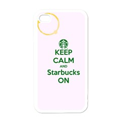 Keep Calm And Starbucks Apple Iphone 4 Case (white)