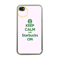 Keep Calm and Starbucks Apple iPhone 4 Case (Clear)