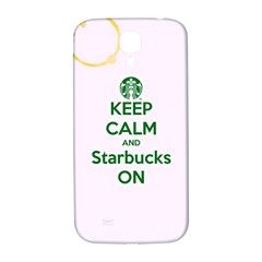 Keep Calm And Starbucks Samsung Galaxy S4 I9500/i9505  Hardshell Back Case
