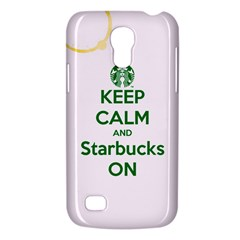 Keep Calm and Starbucks Samsung Galaxy S4 Mini (GT-I9190) Hardshell Case