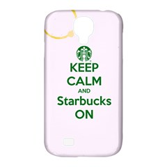Keep Calm and Starbucks Samsung Galaxy S4 Classic Hardshell Case (PC+Silicone)