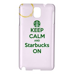 Keep Calm and Starbucks Samsung Galaxy Note 3 N9005 Hardshell Case