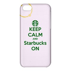 Keep Calm and Starbucks Apple iPhone 5C Hardshell Case