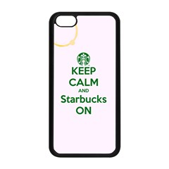 Keep Calm and Starbucks Apple iPhone 5C Seamless Case (Black)