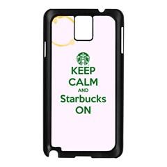 Keep Calm and Starbucks Samsung Galaxy Note 3 N9005 Case (Black)