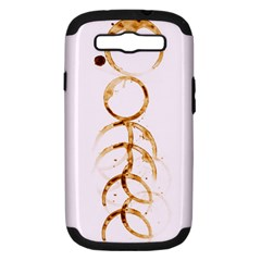 coffee stains Samsung Galaxy S III Hardshell Case (PC+Silicone)