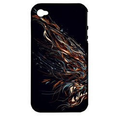A Beautiful Beast Apple Iphone 4/4s Hardshell Case (pc+silicone)