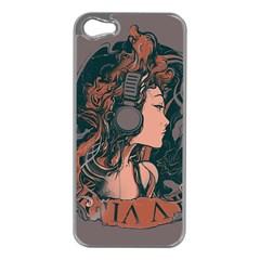 Medussa Turns To Rock Apple Iphone 5 Case (silver)